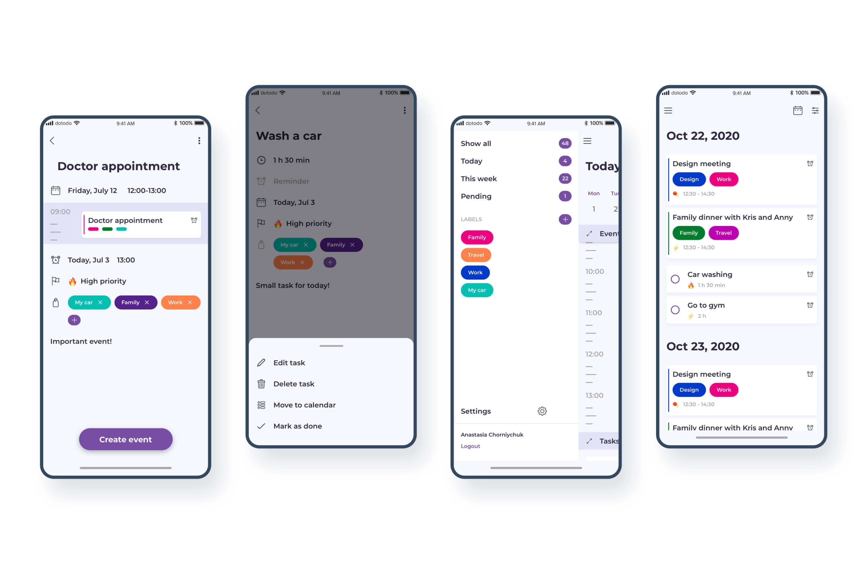 Design process. UI design