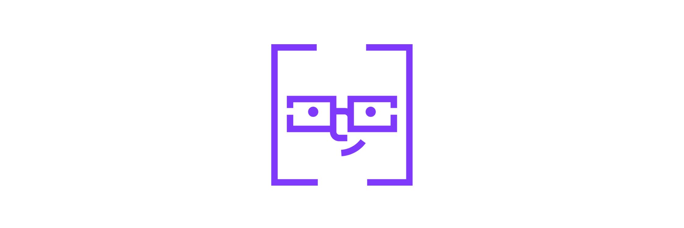 Mobile app development process. Nerdy face