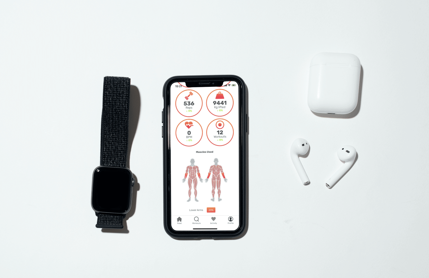 Advanced stats in sport and health apps