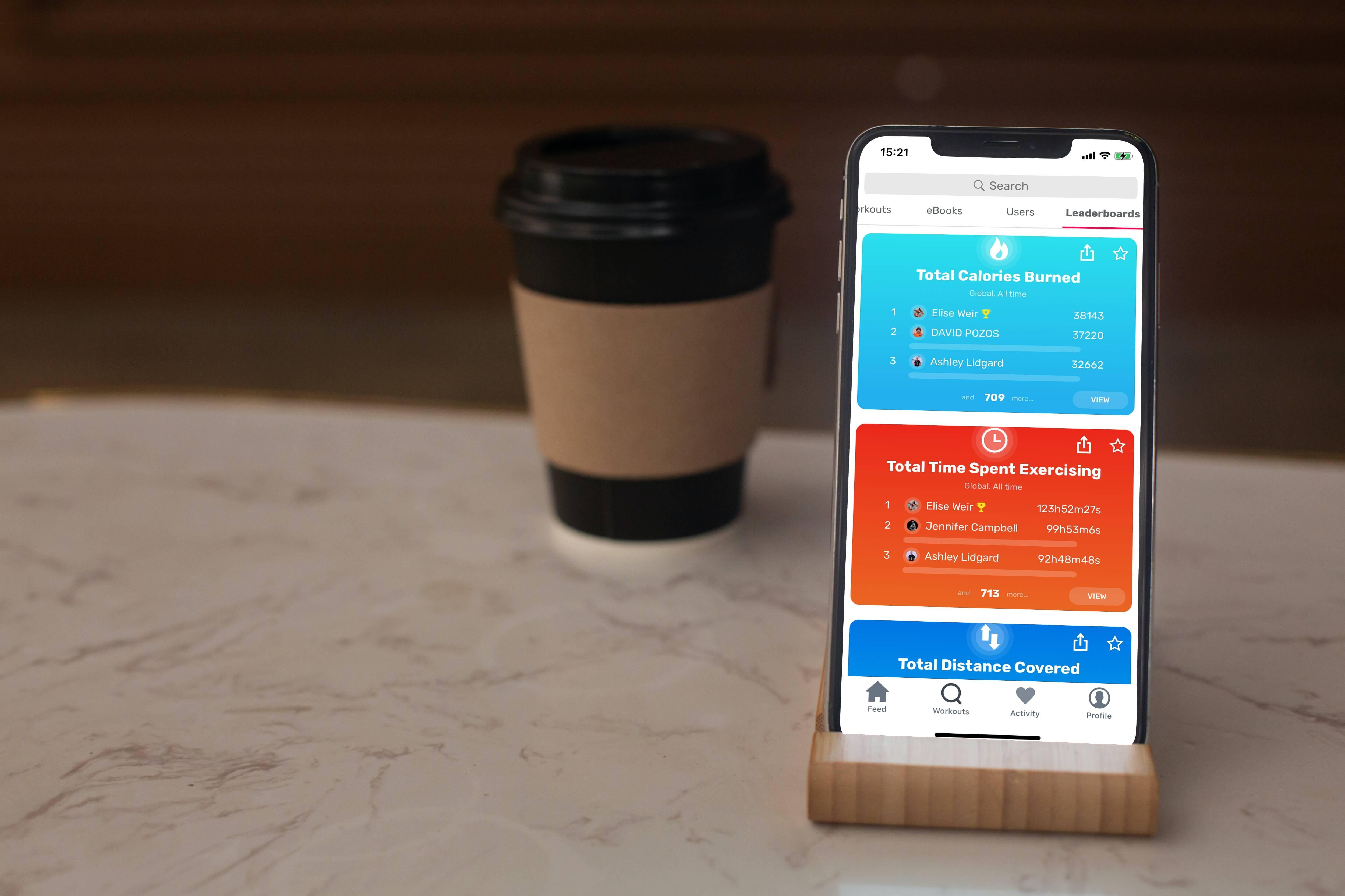 leader boards in sport app